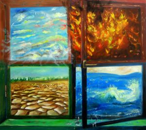 SOLD Name: 4 elements Size: 90 x 80 x 2 cm