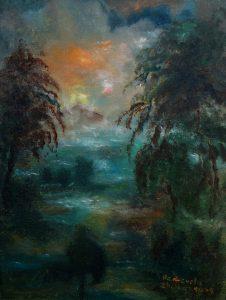 SOLD Name: Dark forest Size: 30 x 40 x 2 cm