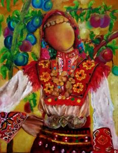 Doll with plums