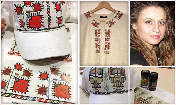 Деница Николова - Поморие / Рисувани шевици по ризи, туники, блузи, шапки, тениски
