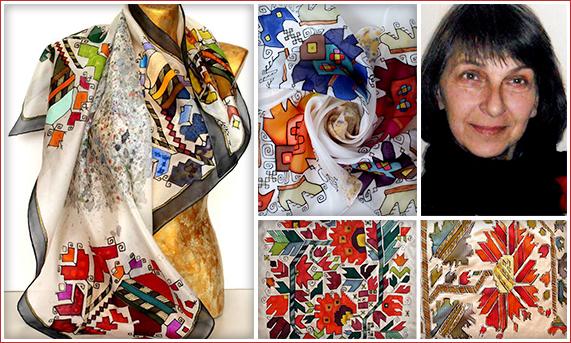 Татяна Сакъзова - Карлово / Рисувана коприна