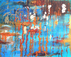 SorrowSize: 70 x 60 x 2 cmTechique: oil; acryl gold paint, gold leaf