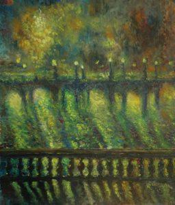 Name: Mist Size: 50 x 60 x 2 cm Oil on canvas