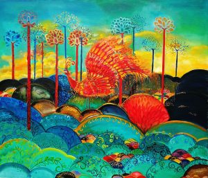 "Name: ""Phoenix"", 60 х 70 х 2 cm, Oil on canvas, 2018"