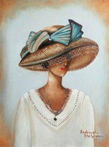 Name: Lady in White Size: 40 x 30 x 2 cm