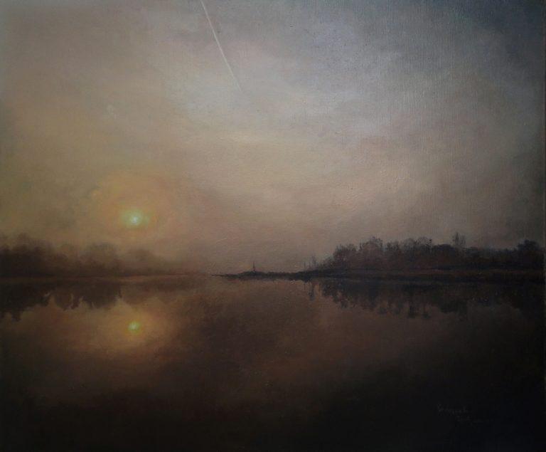 "Name: ""Mirror"" * Artist: Radosveta Zhelyazkova * Medium: Professional oil paint, UV protected varnish on canvas * Size: 50 x 60 x 2 cm"