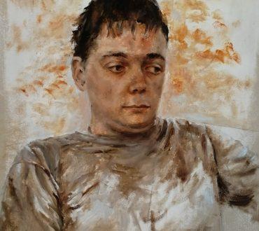 Portrait of Kiro, 70 x 40 cm, oil